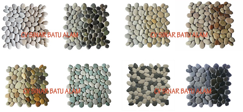 MOSAIC PEBBLE ON NETTING WALL TILE