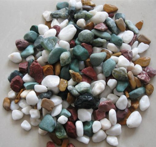 machine-made pebble