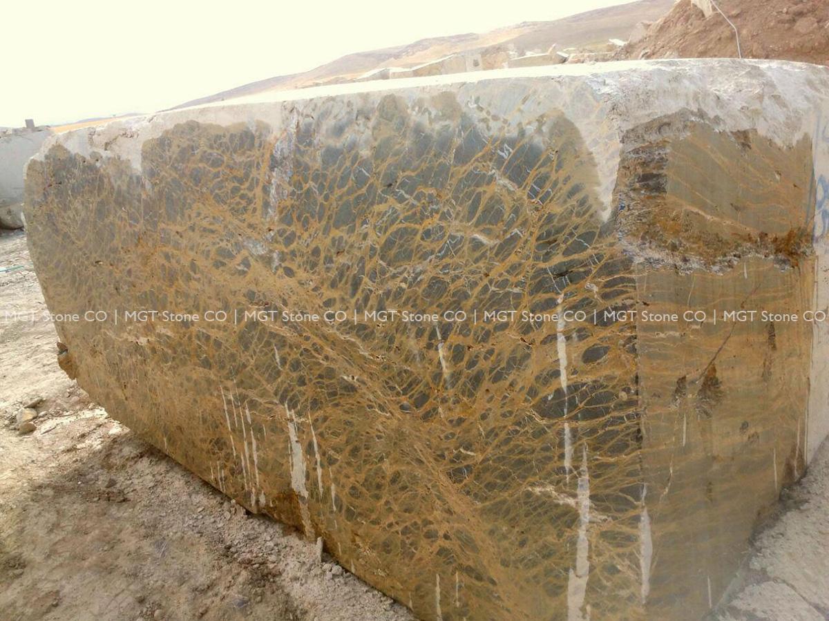 Persian Portoro Marble Block
