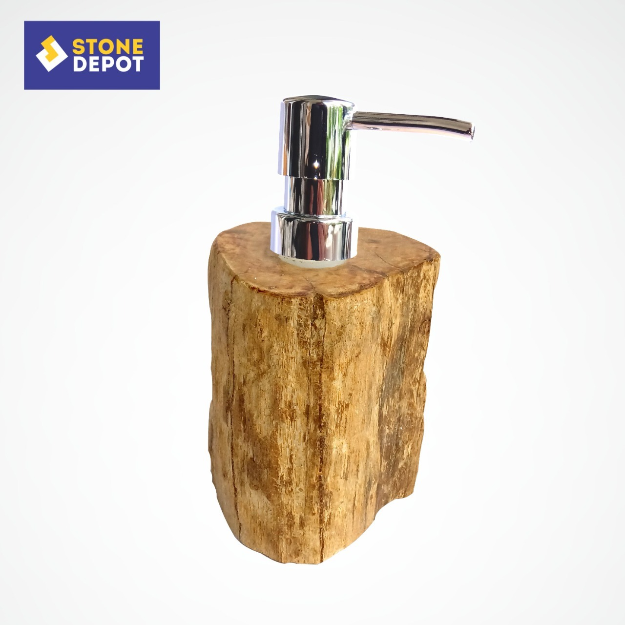 Bali Petrified Wood Bathroom Soap Dispenser