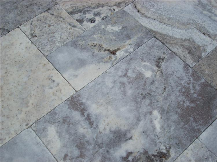 Silver Travertine Brushed
