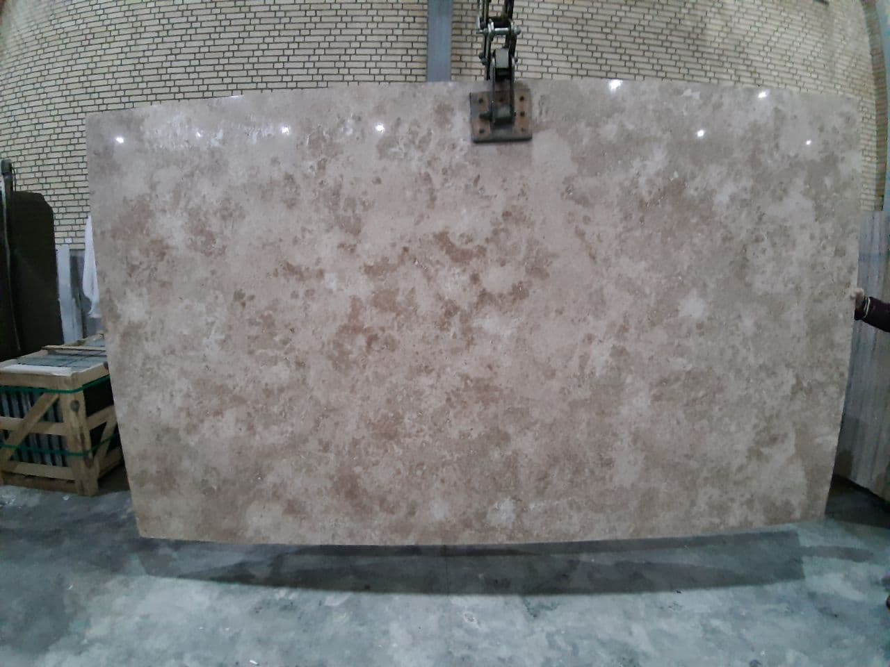 Cream Pink Travertine Slab