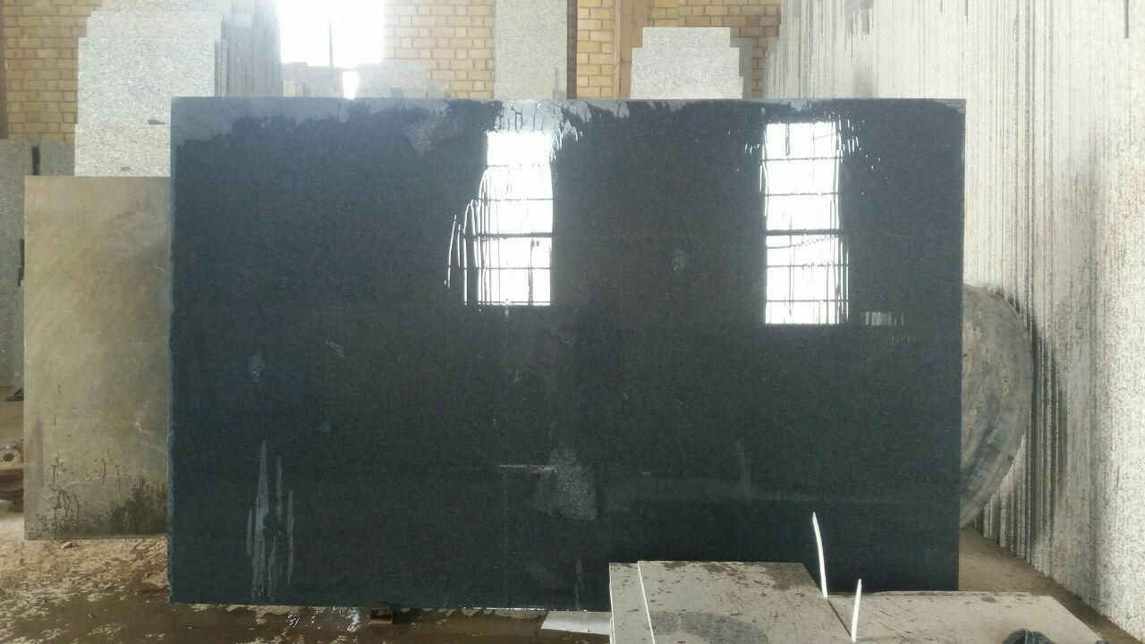 Black Granite Slab and Tiles