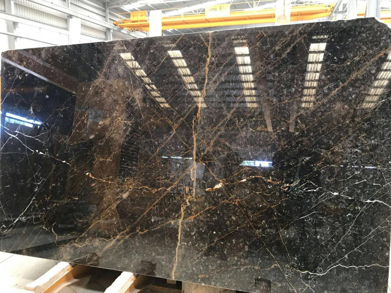 Golden Black Marble Slabs