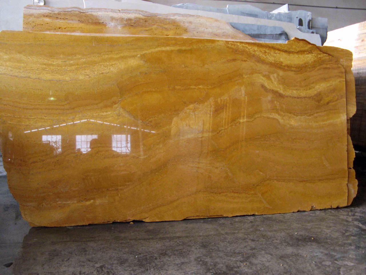 lemon travertine slabs