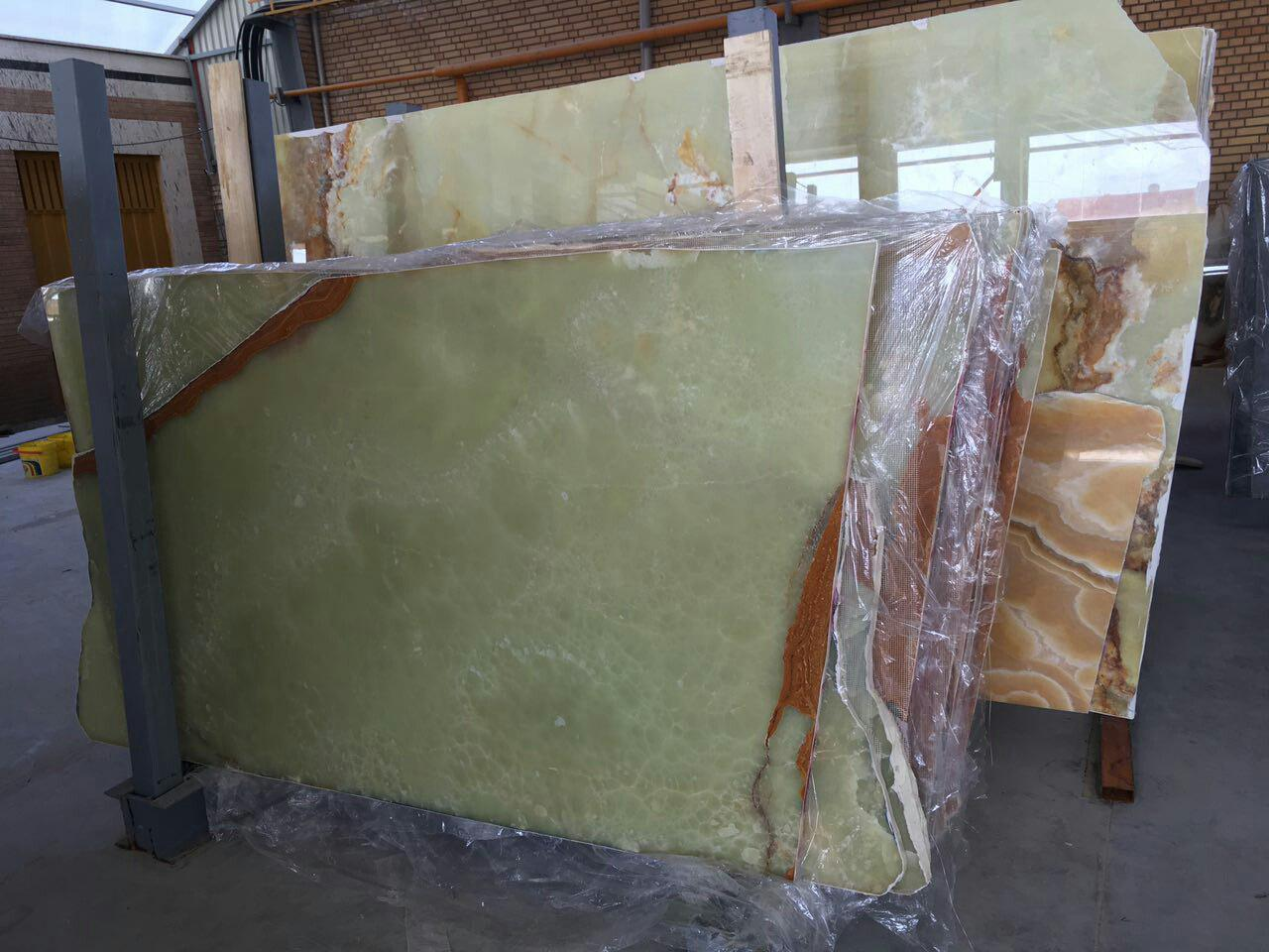 Green Onxy Slabs