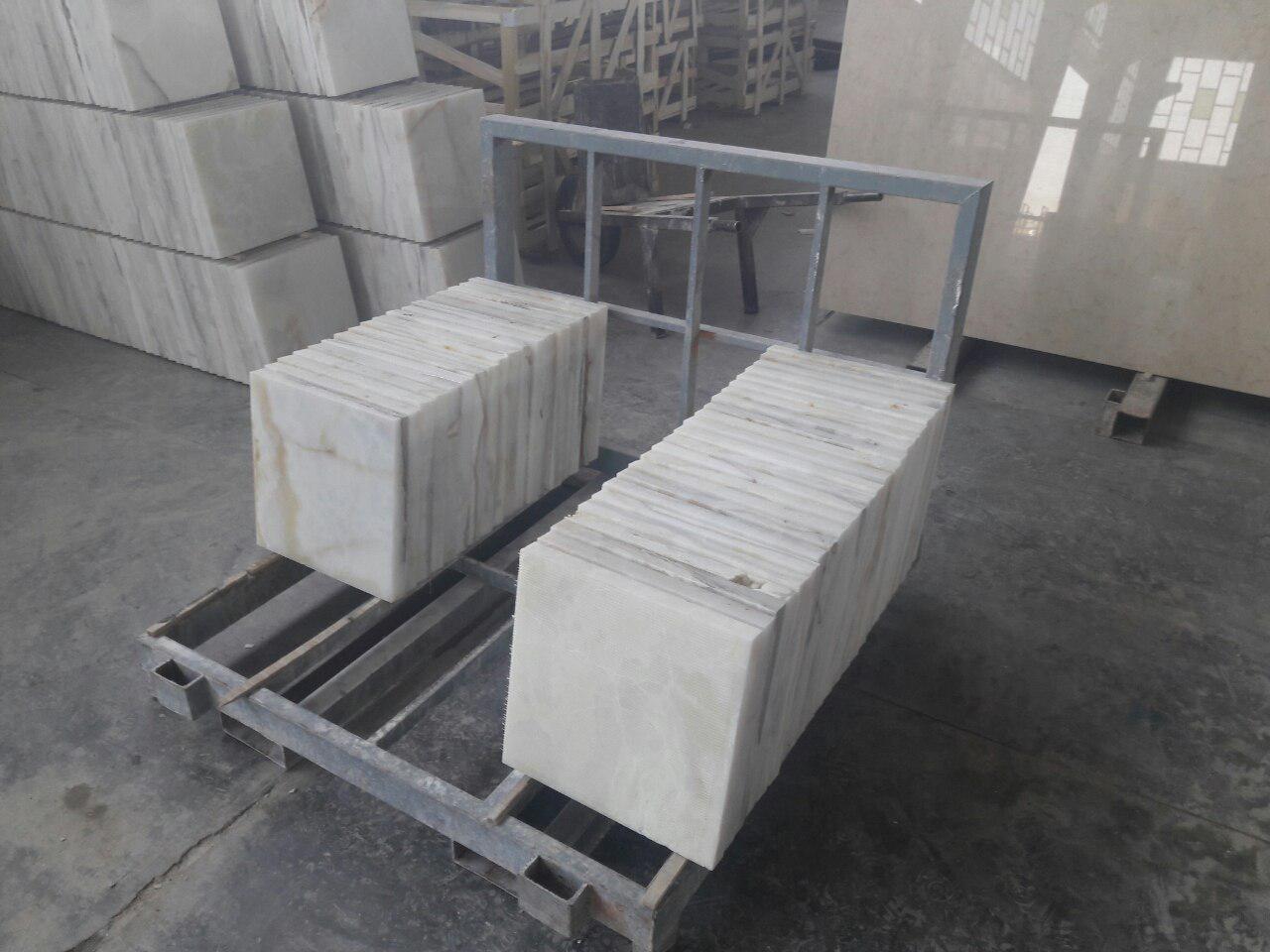 snowy marble tiles