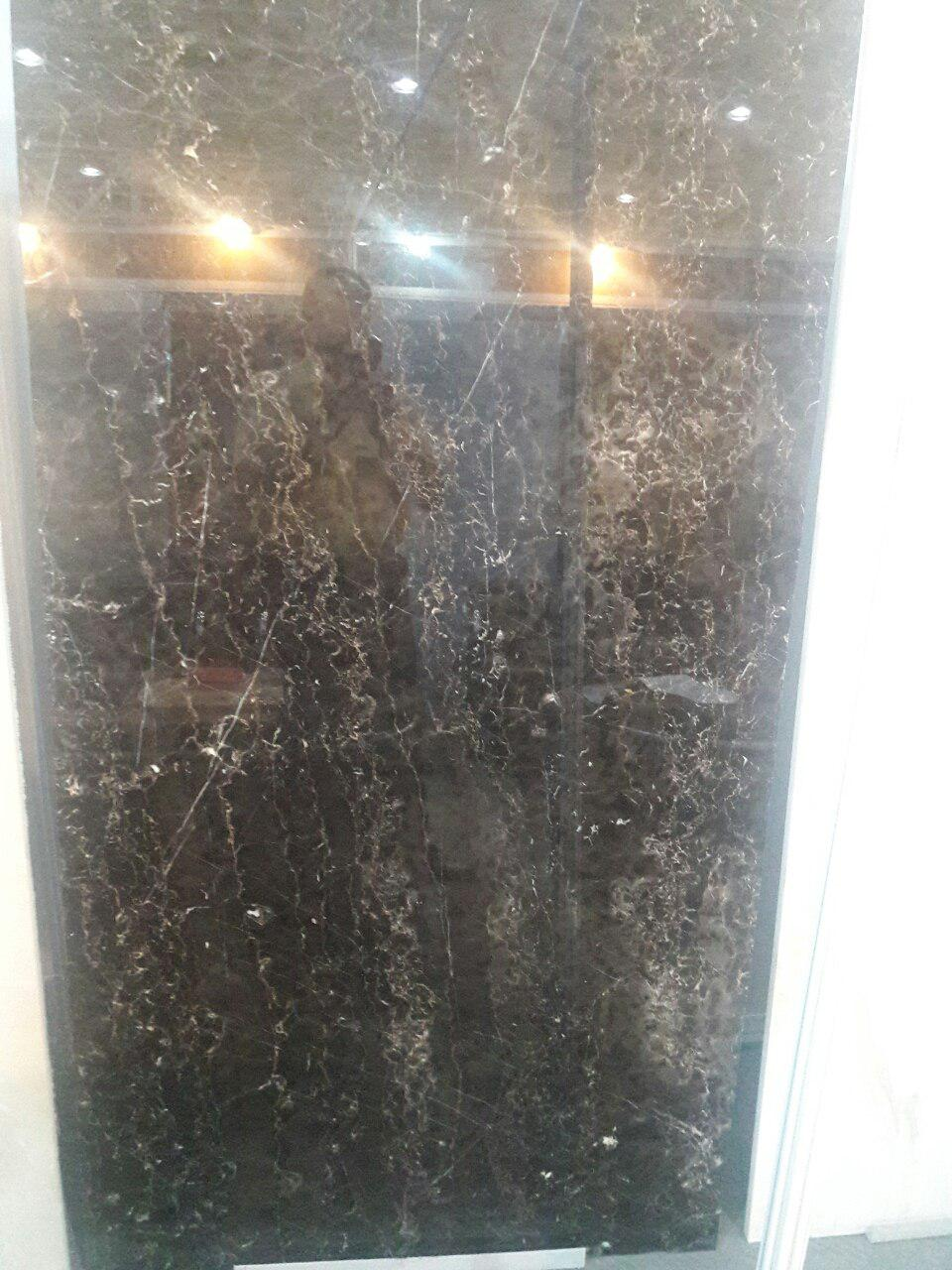 black and golden marble