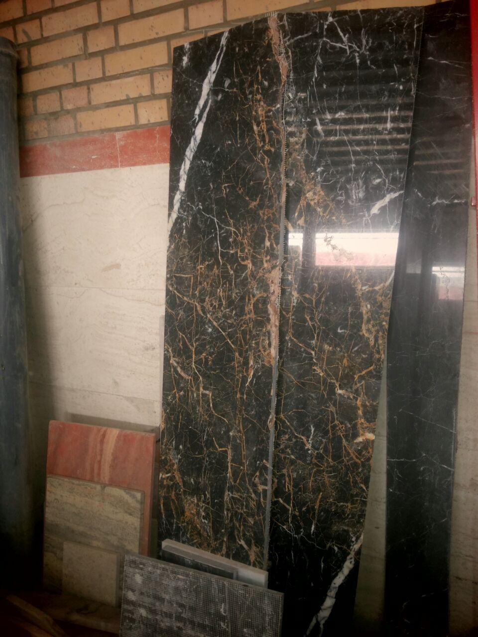 golden black marble tiles
