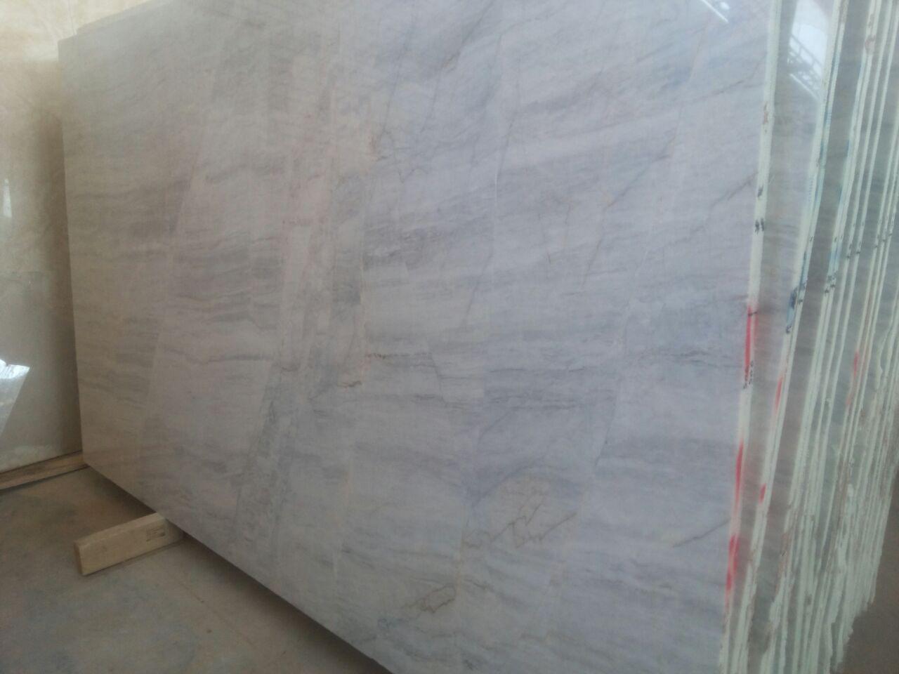 Snowy marble slabs