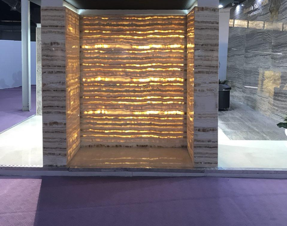 honey marble wall panel