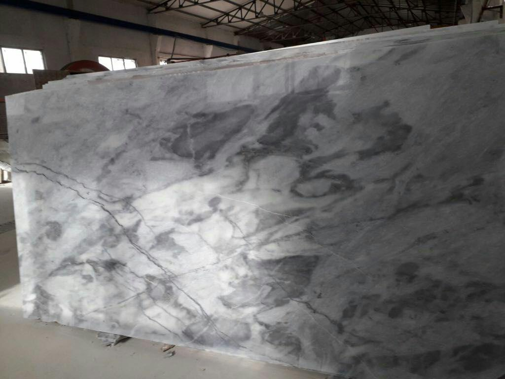 snowy flowered marble