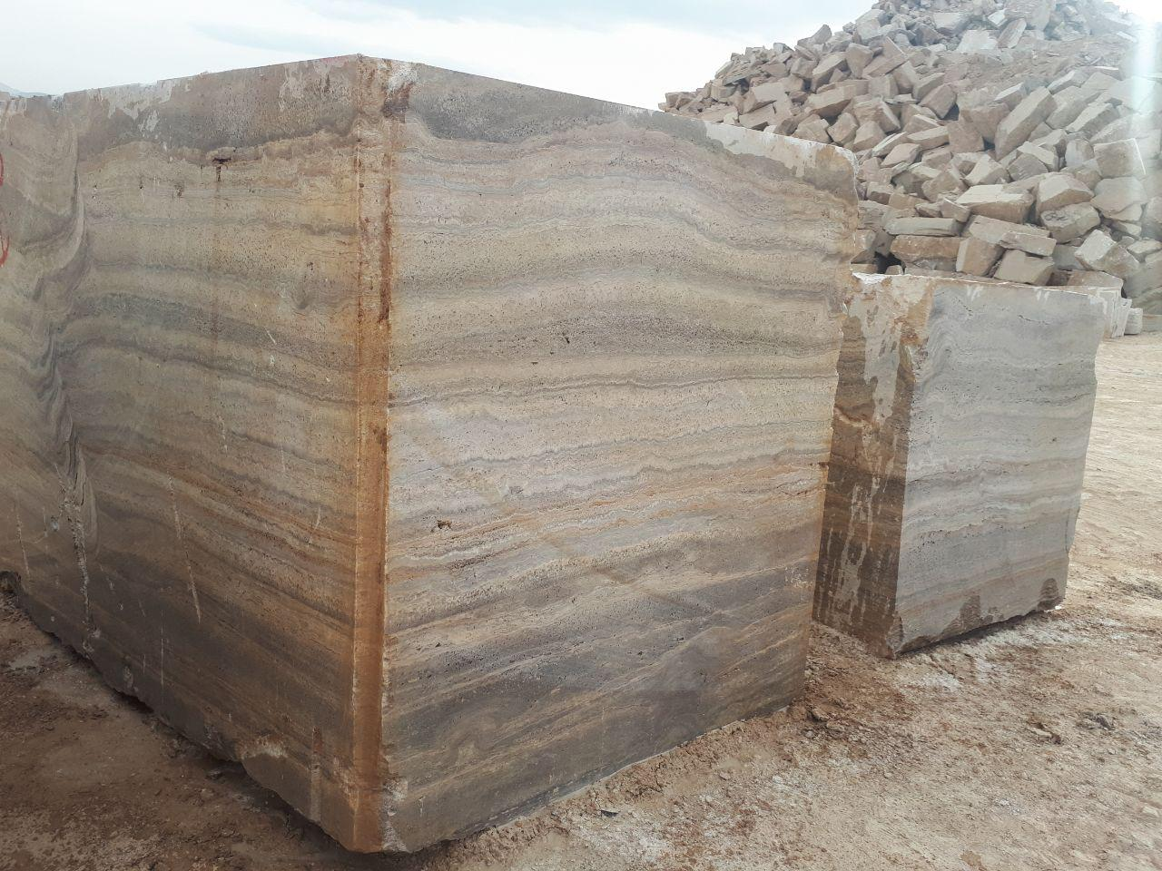 Silver Travertine Block  Silver travertine slab