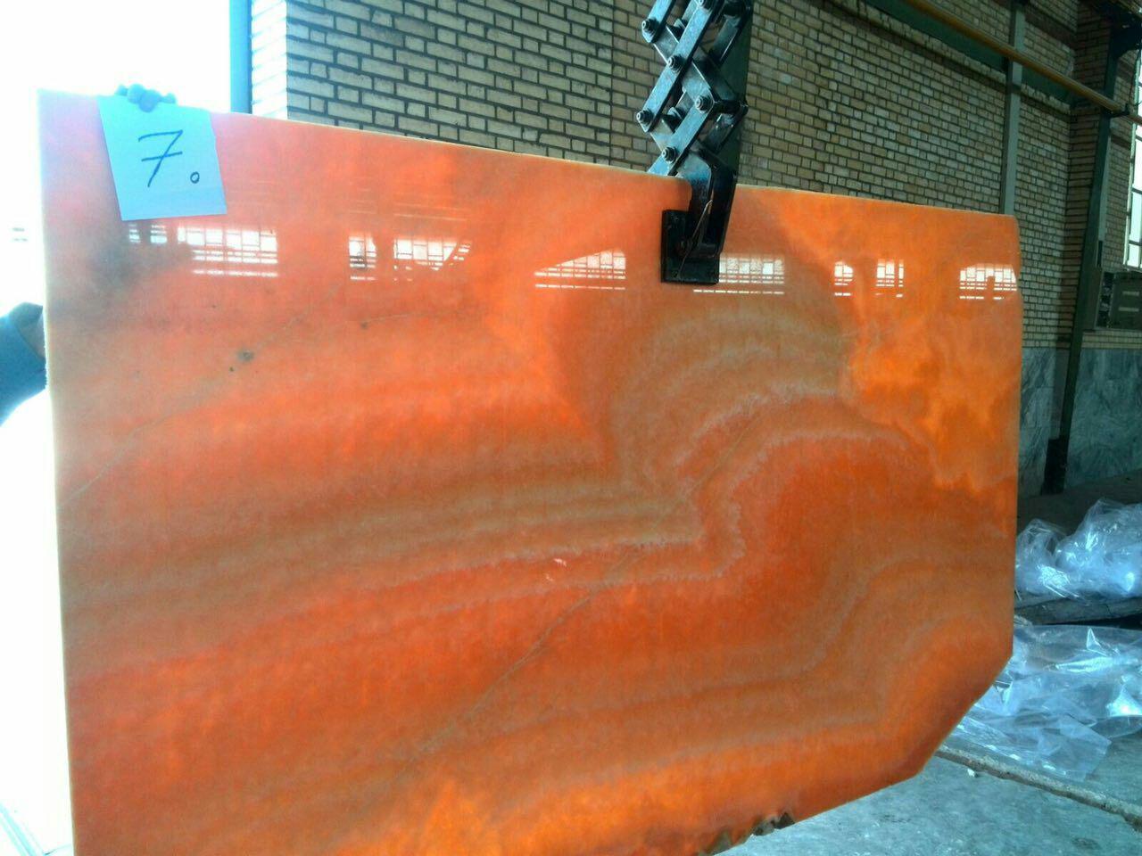 Orange onyx Slab
