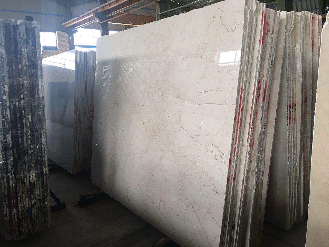 white cream marble