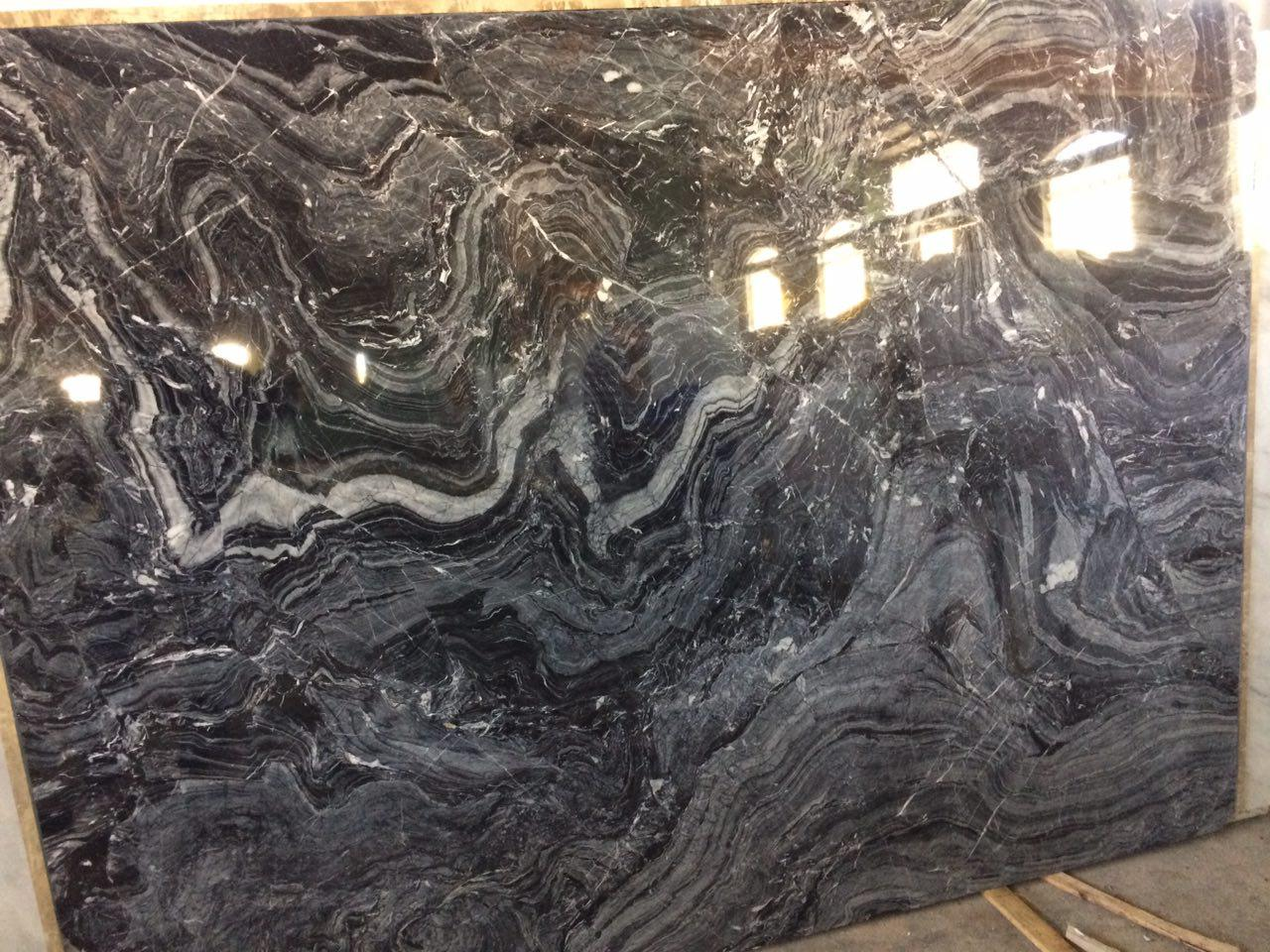 wild black marble