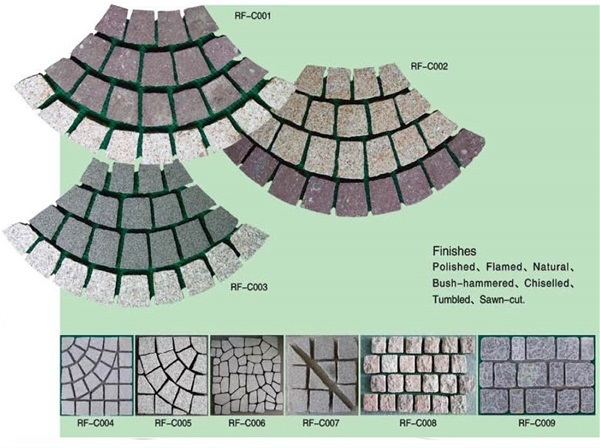 Square black flagstone