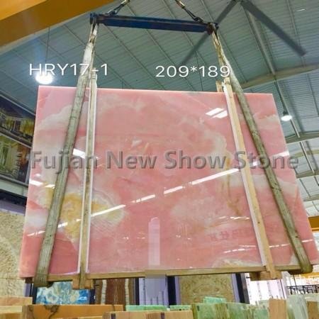 China Pink onyx slabs