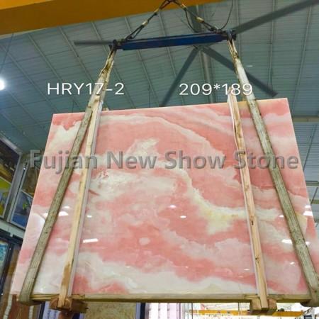 Pink onyx big slabs