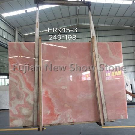 Pink onyx slabs 16-17mm