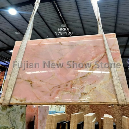 1.6cm Pink onyx slabs
