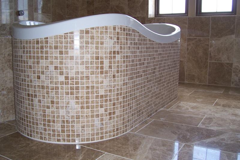 polished marble mosaics