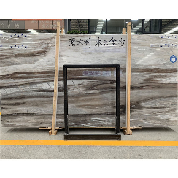 Polished Palissandro Brown Cloud Marble Slab
