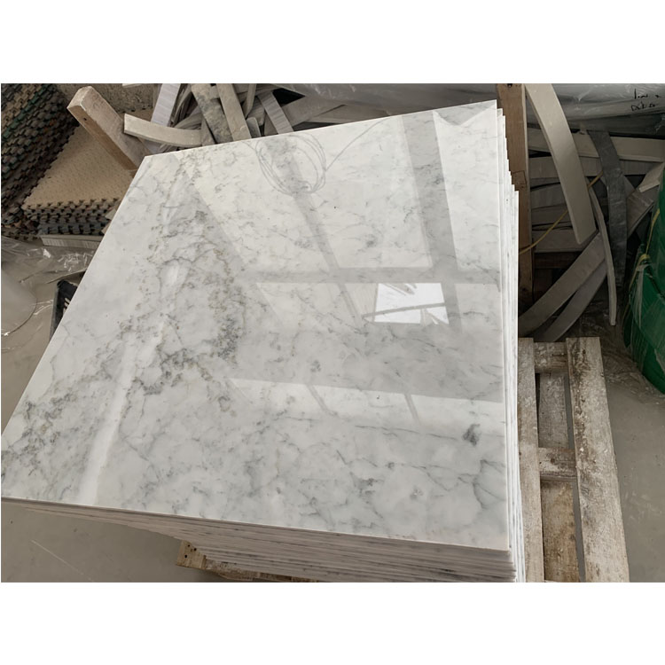 Carrara White Grey Black Veins Marble Tiles