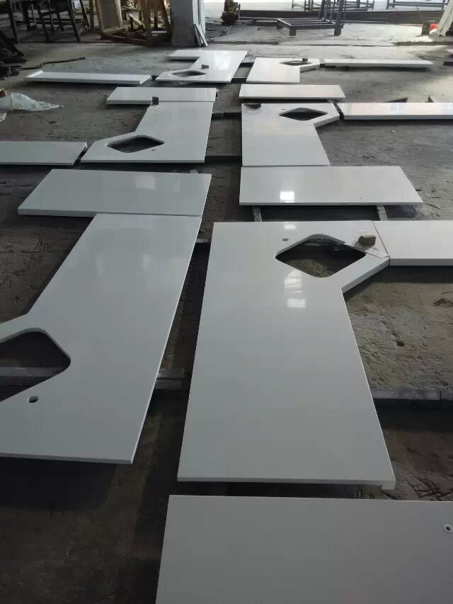 Factory artificial stone white quartz countertops