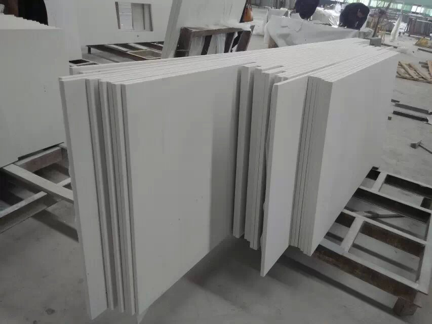 Artificial Pure White Quartz slabs