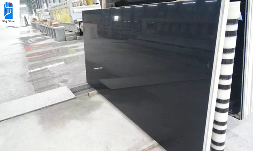 Quartz Stone Black Slabs