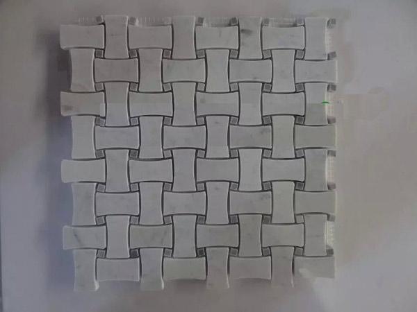 Carrara white mosaic