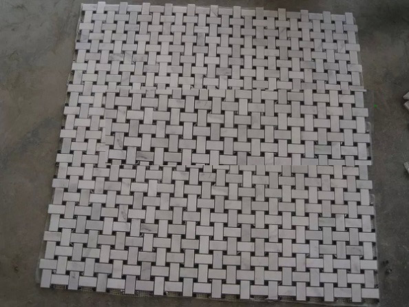 Weaving Carrara white mosaic