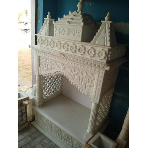 Pure White Makrana Marble Temples