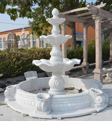 Pure White Marble Fountain