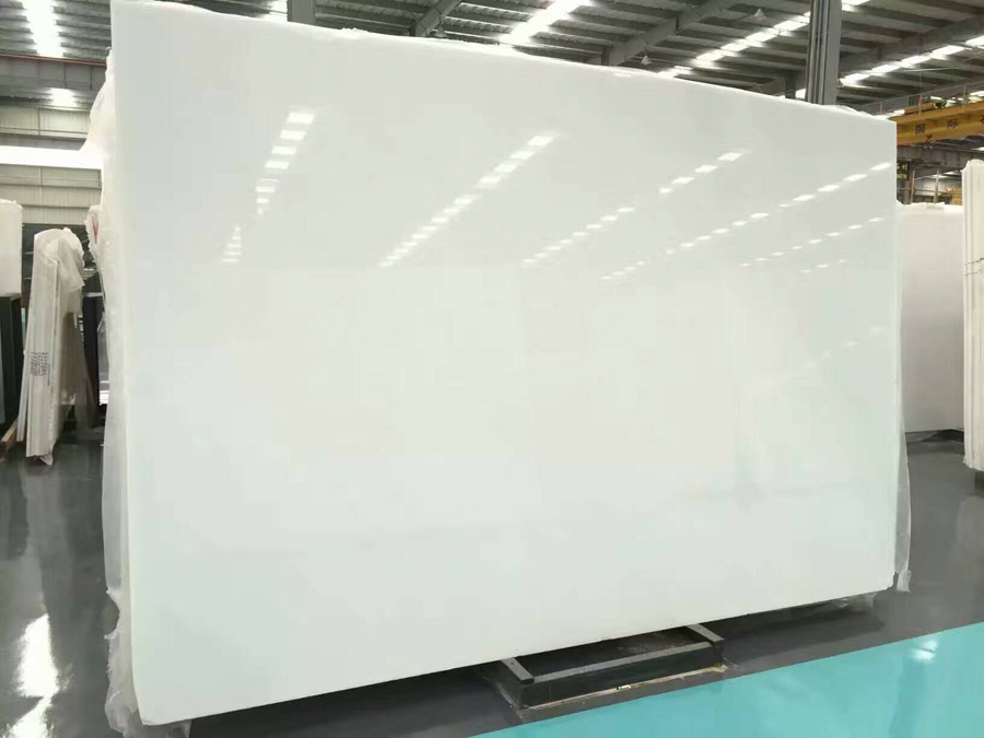 Pure white China white jade marble