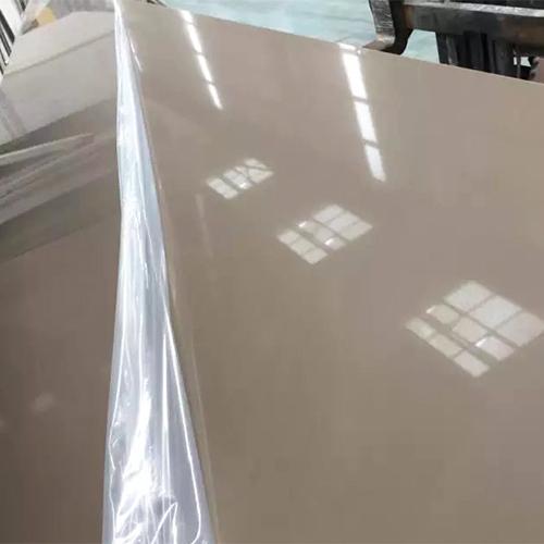 Pure brown color artificial quartz stone China