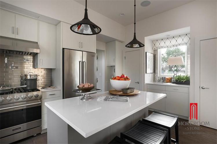 Pure white quartz kitchen countertop wholesale price