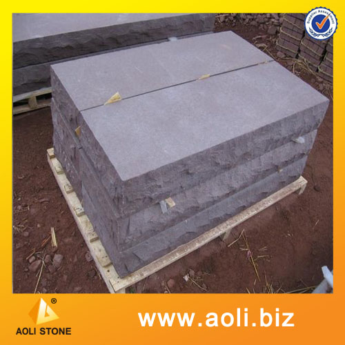 Purple sandstone block and cube stone for paver