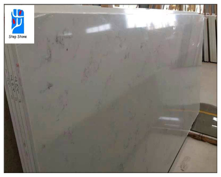 Quartz slabs Carrara Bianco