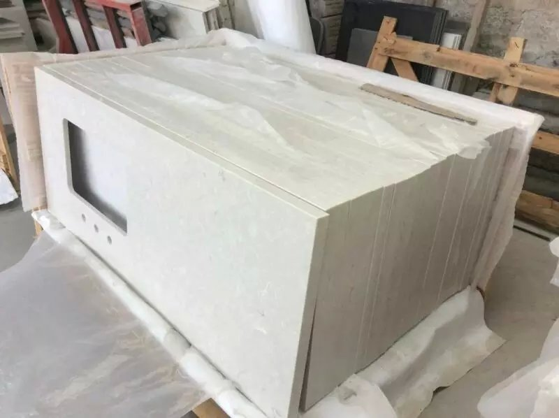 quartz white stone countertops