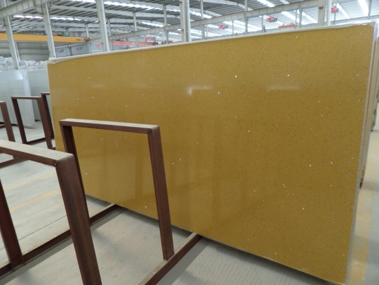 Yellow Quartz stone slabs