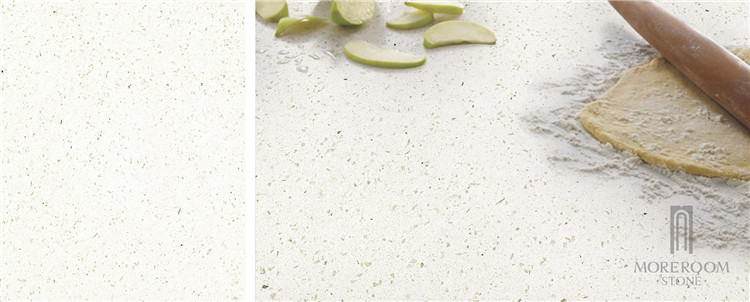 artificial sparkle white quartz stone countertop