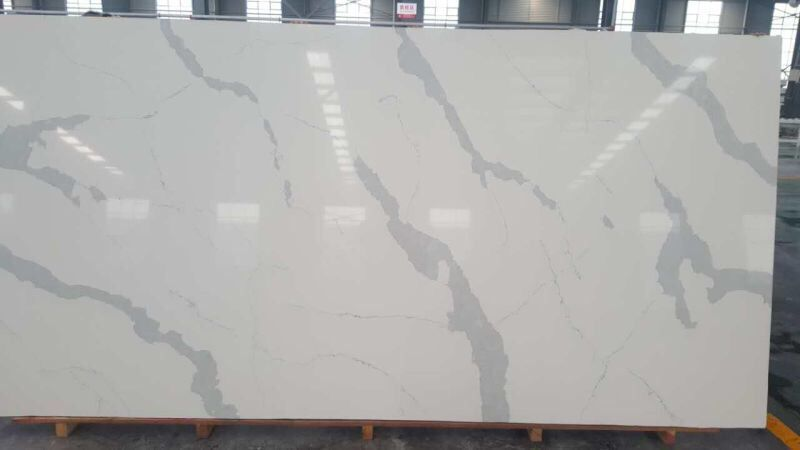 Bianco Carrara quartz stone slabs