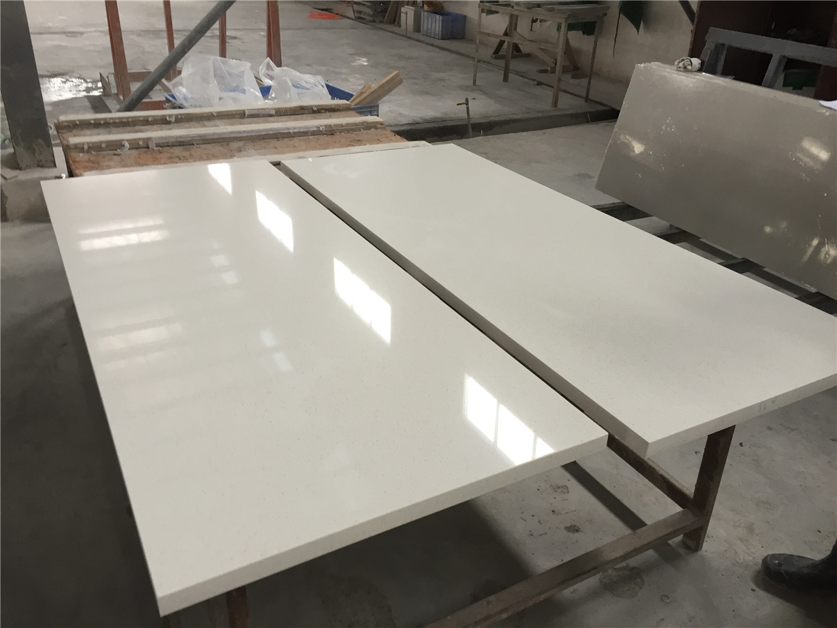 white quartz table top for hotel