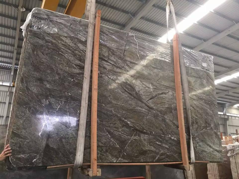 rainforest green marble slab
