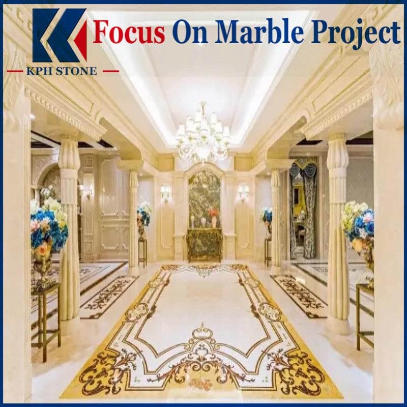 Aran White Marble Lobby Design