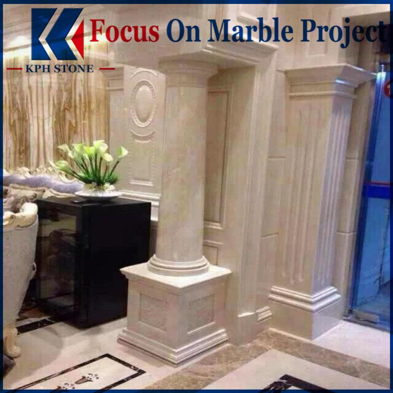 Aran White Marble Pillars