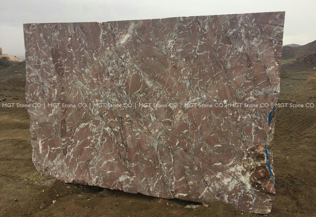 Red Rosa Marble Block
