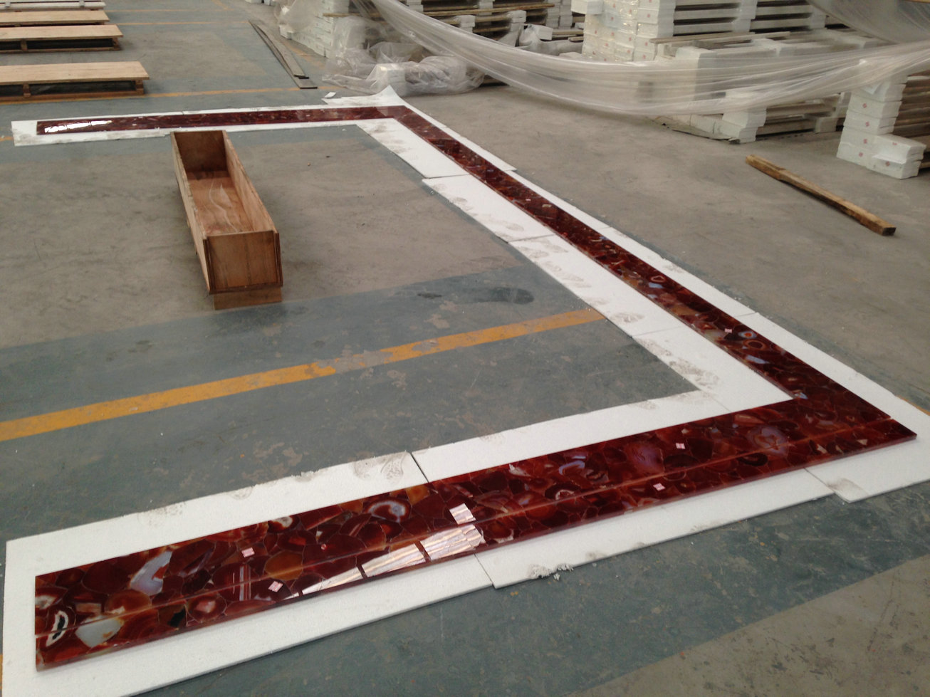 arrtifical onyx red onyx wall tiles